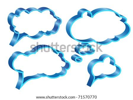 Colorful speech bubbles and dialog balloons - stock vector