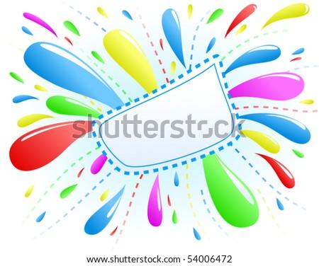 Colorful Splash Background - vector illustration - stock vector