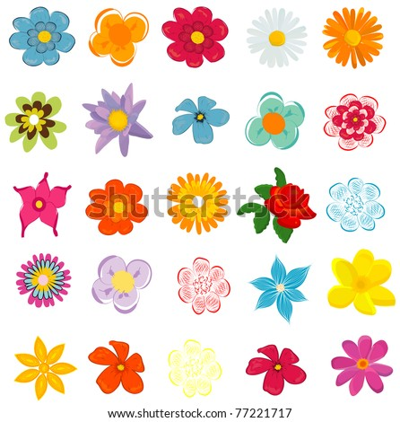 Colorful spring flowers vector illustration stock vector 77221717 colorful spring flowers vector illustration mightylinksfo