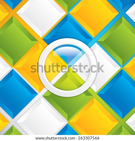 Colorful Square blank background .Vector Design Concept  - stock vector