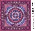 Colorful Square Kerchief Design - stock vector