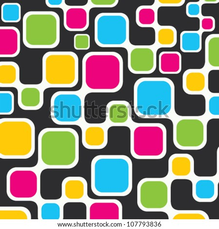 colorful square stock vector background - stock vector