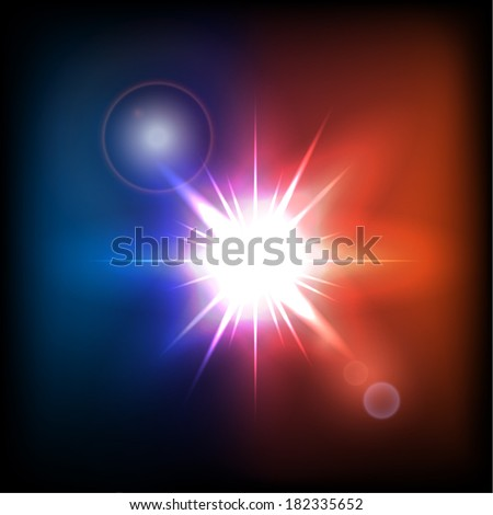 Colorful star burst. Vector eps10 - stock vector