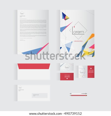 Colorful Stationery Template Design for Your Business | Modern Vector Design
