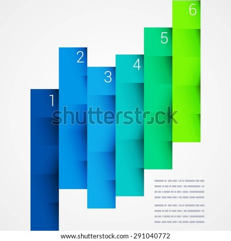 Colorful Step by Step design. Minimal style infographic template layout. Vector Illustration. - stock vector
