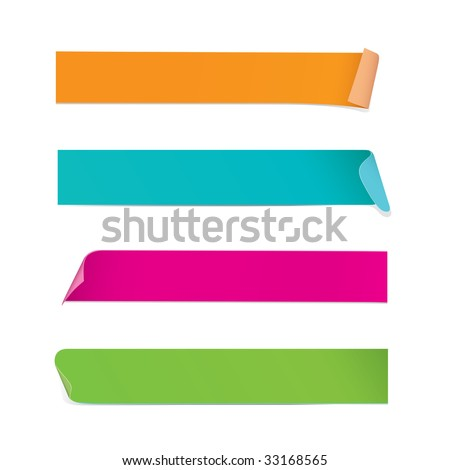 Colorful Stickers (vector). In the gallery also available XXL jpeg image made from this vector - stock vector