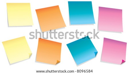 Colorful sticky-notes