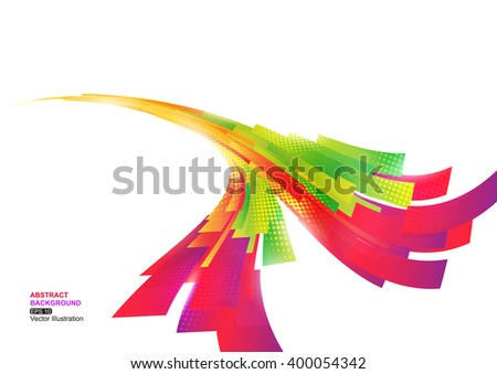 Colorful Stripe Abstract Background