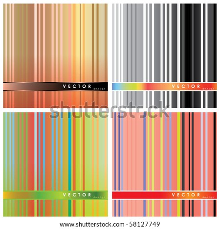 colorful stripe abstract background vector eps10 (4 types)