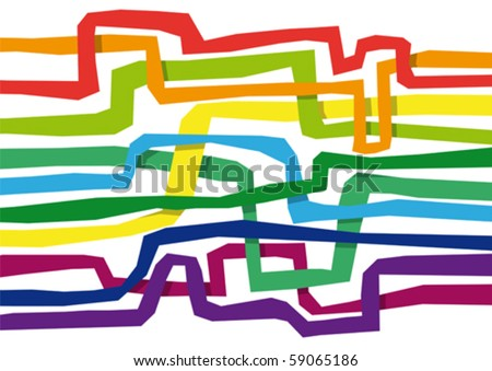 colorful stripes - stock vector