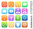 Colorful style mobile phone icons vector set. - stock vector