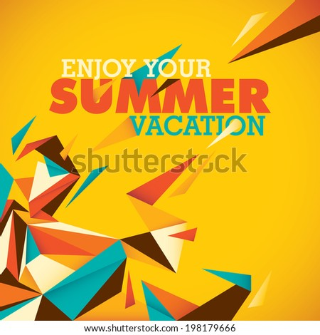 Colorful summer background with abstraction. Vector illustration. - stock vector