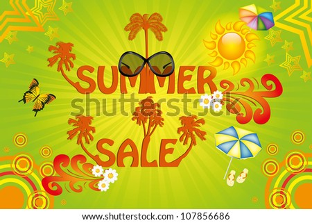 Colorful summer sale template