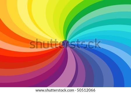 colorful swirl - stock vector