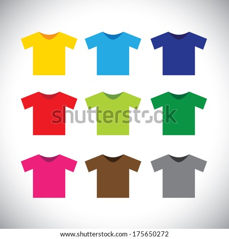 colorful t-shirts vector icons. This graphic consists of tee shirts in ...: background-pictures.vidzshare.net/rocket-golf-logo/designyourway...