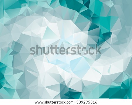 Colorful teal swirl rainbow polygon background. teal polygonal  vector. Abstract Triangle Geometrical Teal Background. Teal Geometric Pattern design for business presentations. white green teal aqua - stock vector