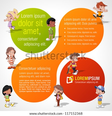 colorful template advertising brochure group cute stock vector hd royalty free 117152368 shutterstock