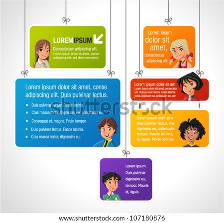Colorful Template Advertising Brochure Children Stock Vector