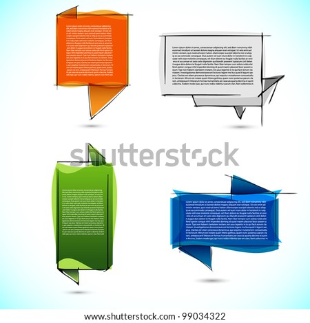 Colorful text boxes - stock vector