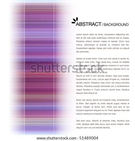Colorful text template - stock vector