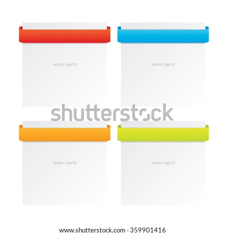 Colorful Title Ribbons - stock vector