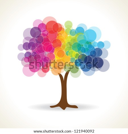 Colorful Tree Vector - stock vector