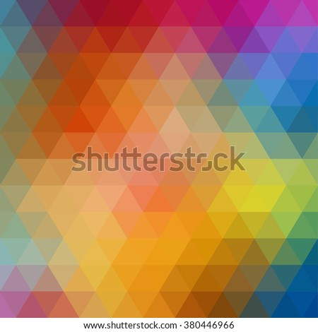 Colorful Triangle abstract background