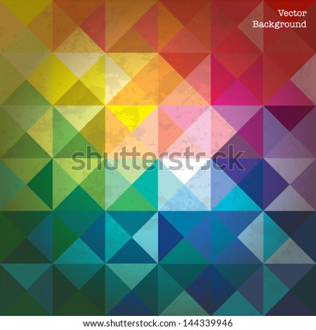 Colorful Triangles Abstract Background - Vector EPS10