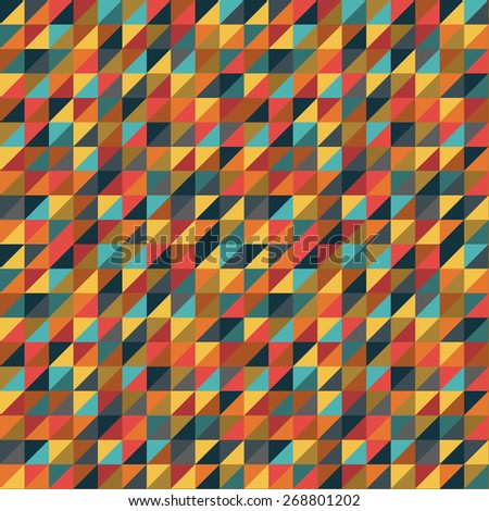 Colorful Triangles Background - stock vector