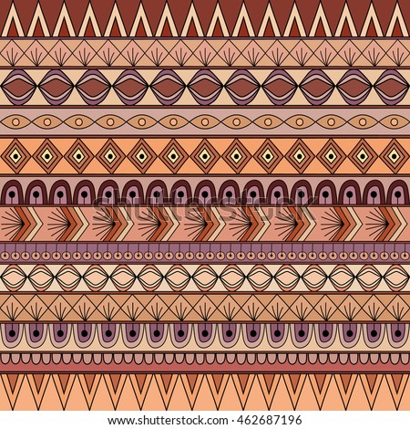 Colorful tribal vintage ethnic seamless pattern, geometric print, fabric, cloth design, wallpaper, wrapping.