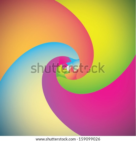 Colorful twirl background  - stock vector