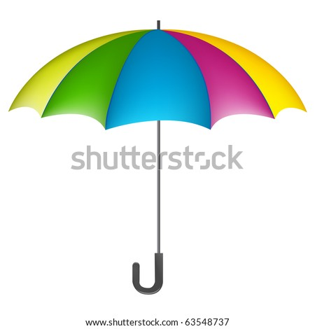 colorful umbrella on a white background