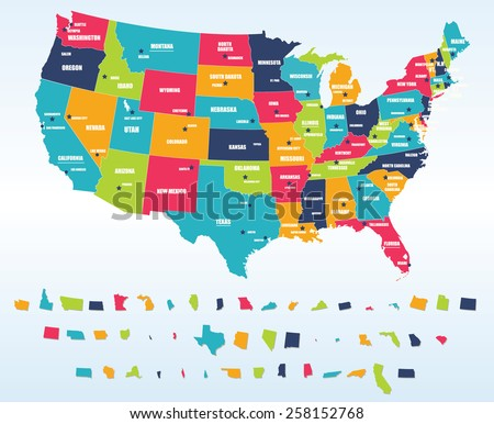 United States Map Clip Art At Clkercom Vector Clip Art Online US - Map of usa states and capitals