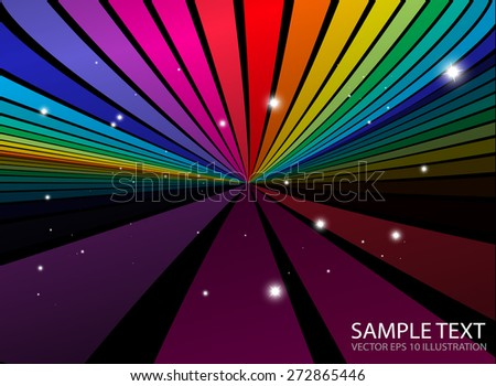 Colorful vector abstract template background illustration - Vector abstract colorful striped  background template - stock vector