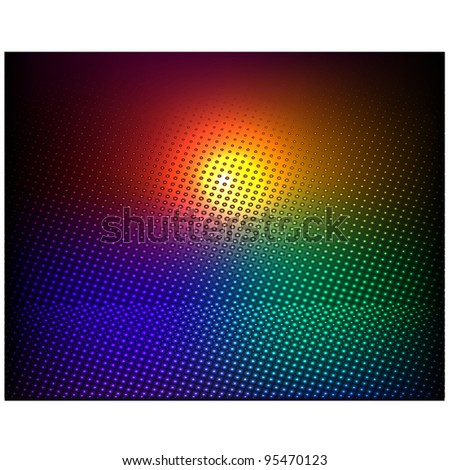 Colorful vector abstraction - stock vector