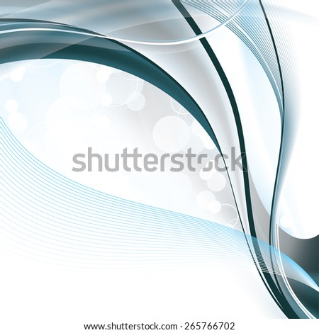 Colorful Vector Background. Abstract Wavy Illustration. - stock vector