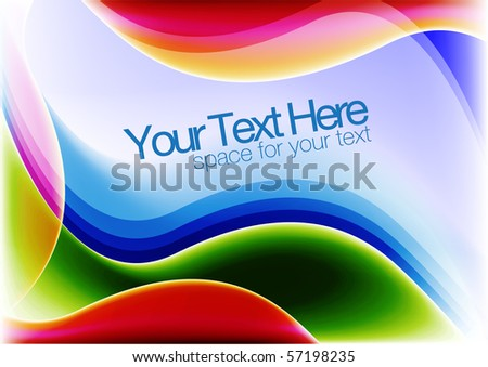 colorful vector background for text