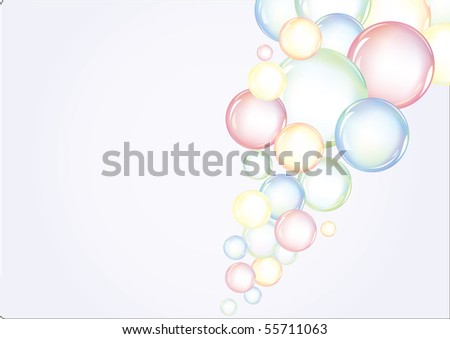 Colorful vector background with bubbles - stock vector