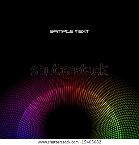 Colorful vector background with spectrum dots - stock vector