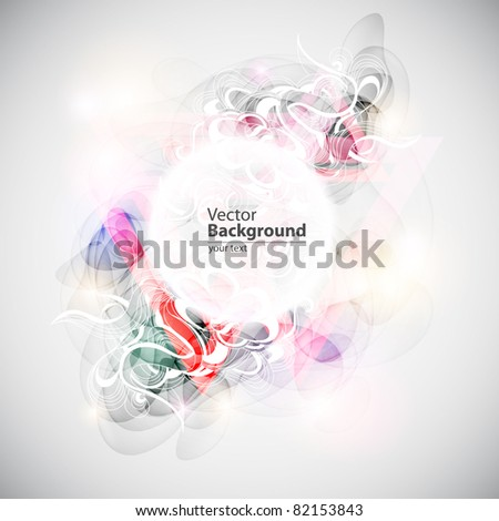 Colorful vector banner - stock vector