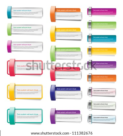 Colorful vector banner / badge / sticker collection - stock vector