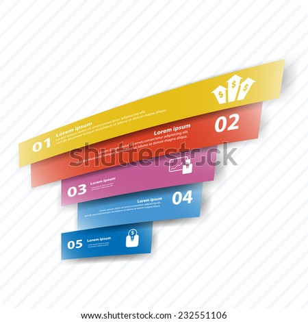 Colorful vector design for workflow layout, presentation template, diagram, number options, web design, infographics.