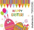 Colorful vector easter card - stock vector