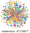 Colorful vector explode - stock vector