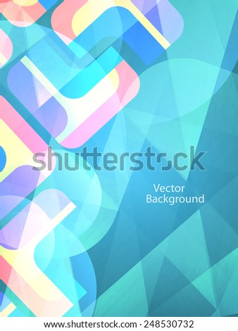 colorful vector illustration of elegant futuristic background with polygonal shapes.  - stock vector
