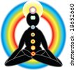 colorful vector images of chakras - stock vector