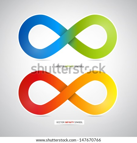Colorful vector infinity symbol - stock vector