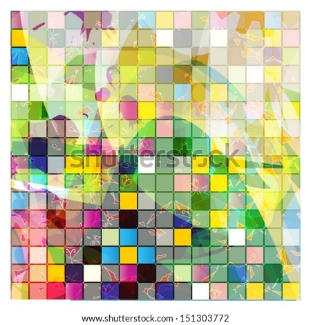 Colorful vector mosaic background