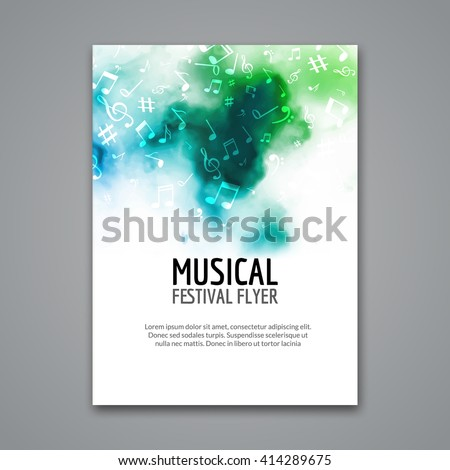 concert press release template - colorful vector music poster festival concert stock vector