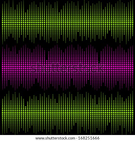 colorful vector music sound background - stock vector